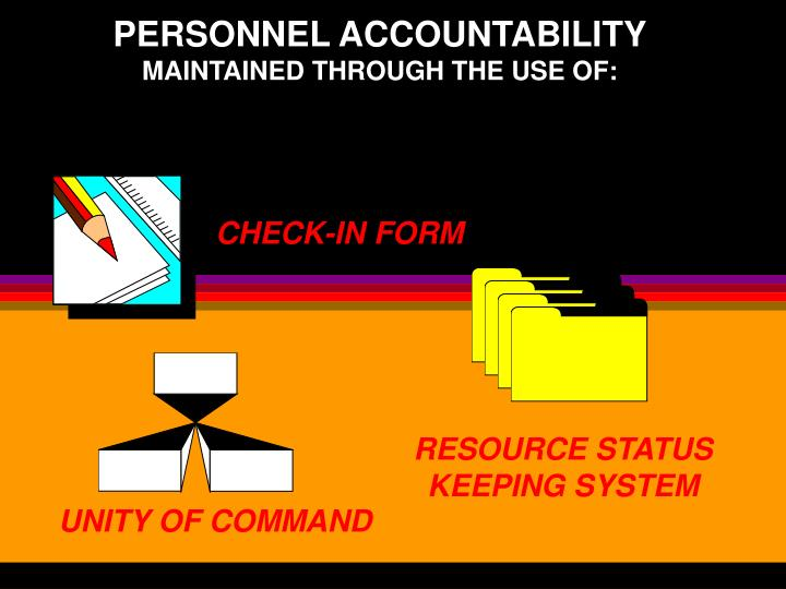 PERSONNEL ACCOUNTABILITY