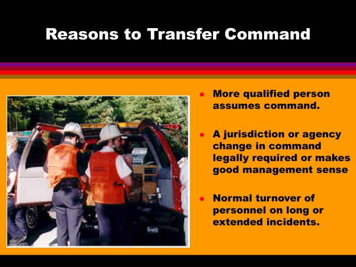 Reasons to Transfer Command