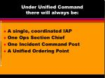 under unified command there will always be