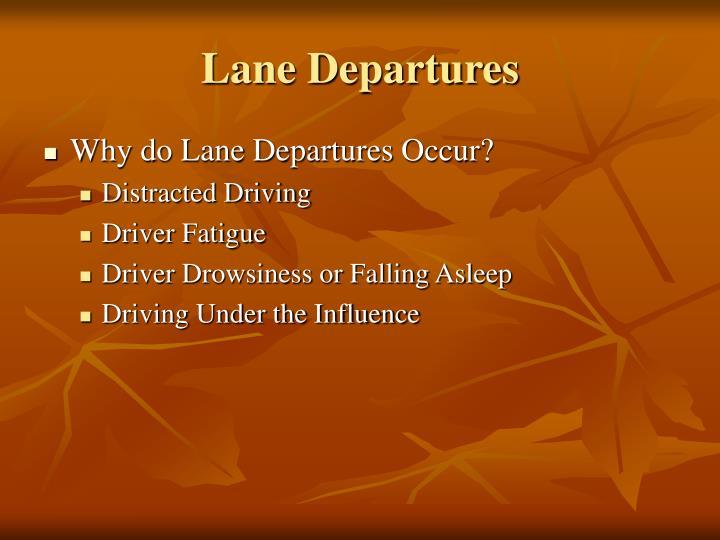Lane Departures