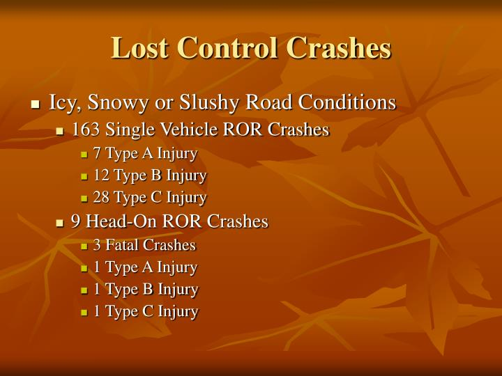 Lost Control Crashes