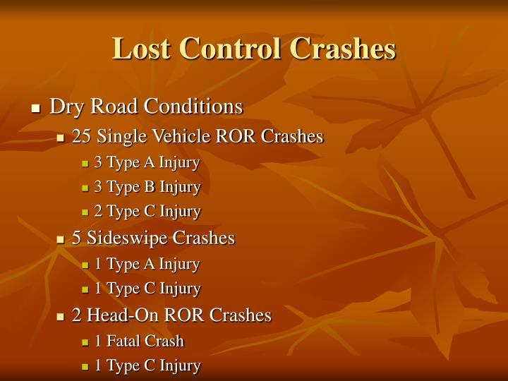Lost Control Crashes