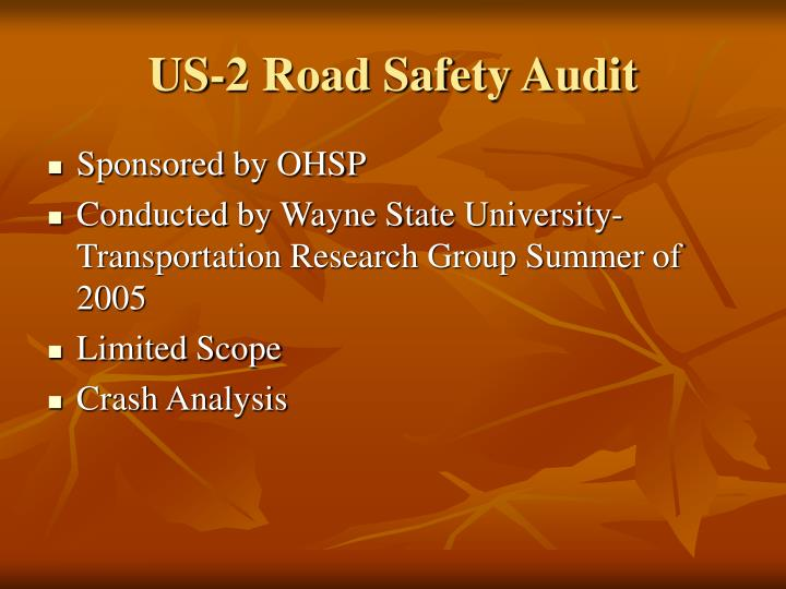 US-2 Road Safety Audit