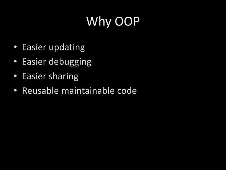 Why OOP
