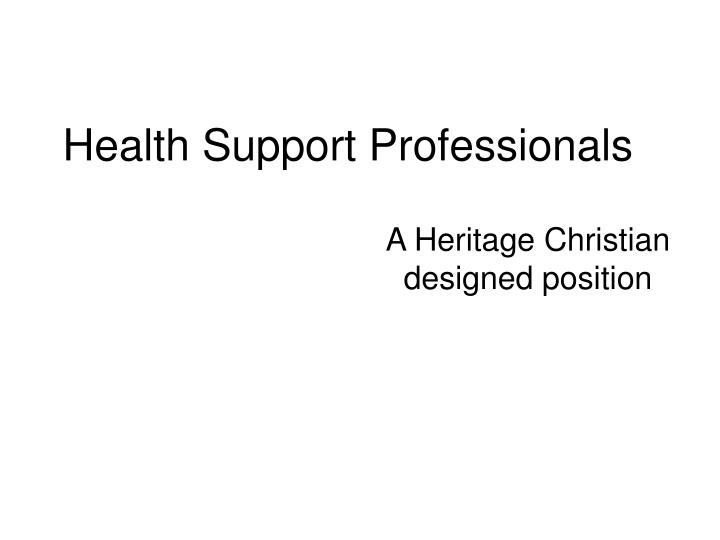 Health Support Professionals