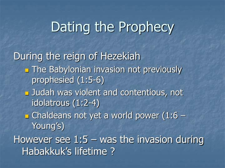 Dating the Prophecy
