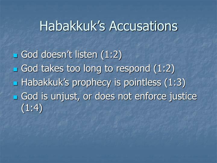 Habakkuk's Accusations