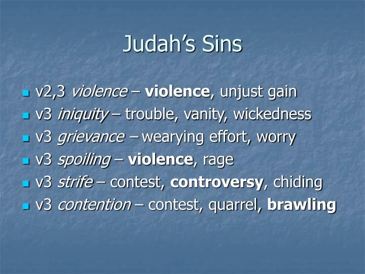 Judah's Sins