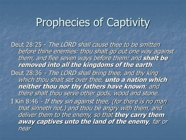 Prophecies of Captivity