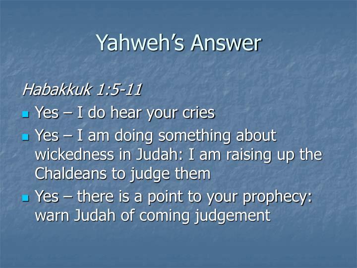 Yahweh's Answer