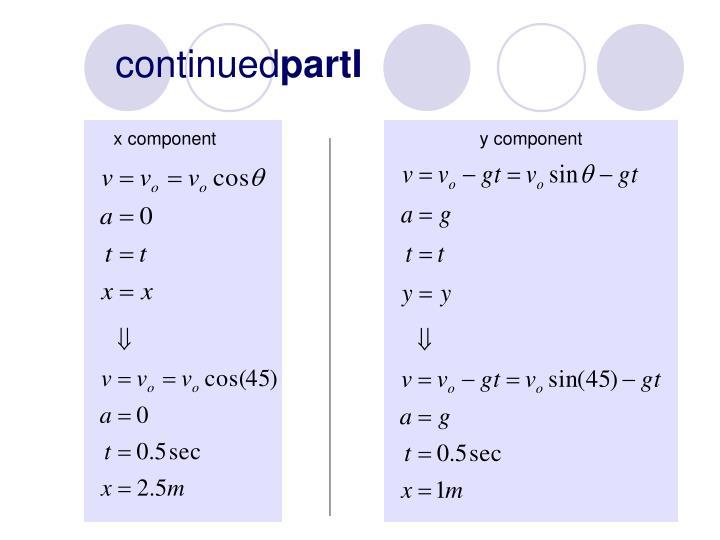x component