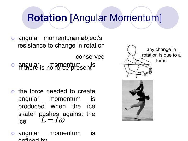any change in rotation is due to a force