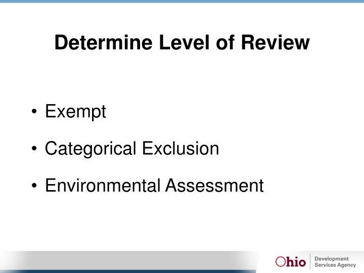 Determine Level of Review