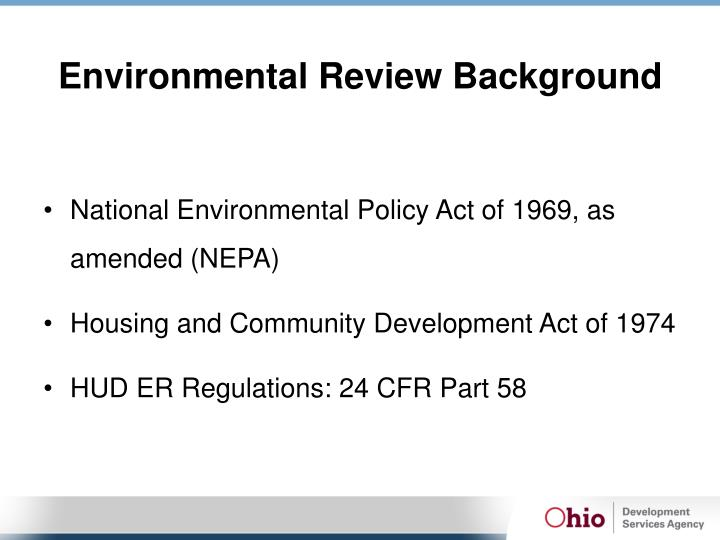Environmental Review Background