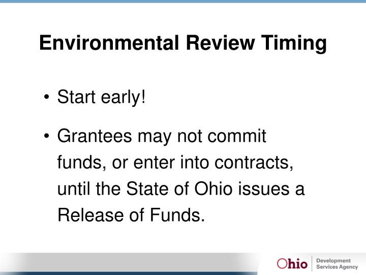 Environmental Review Timing