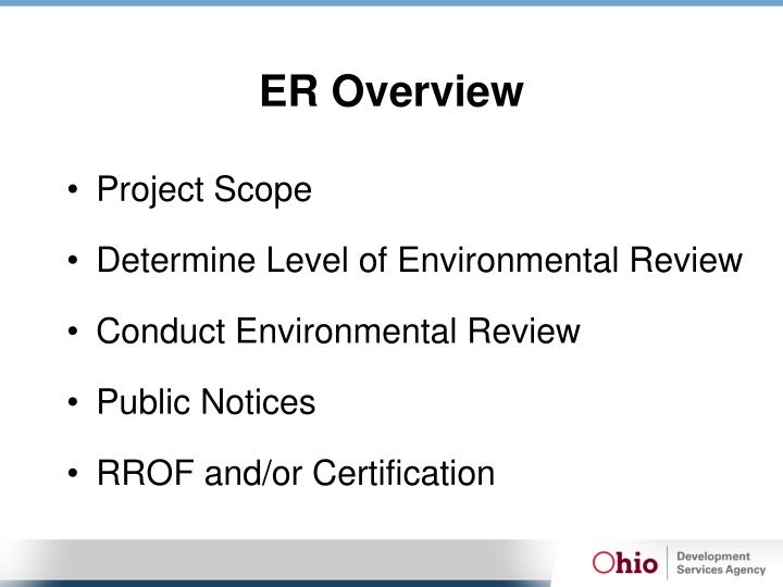 ER Overview