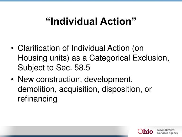 """Individual Action"""