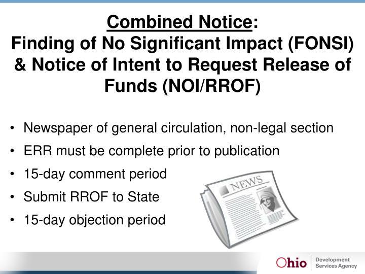 Combined Notice