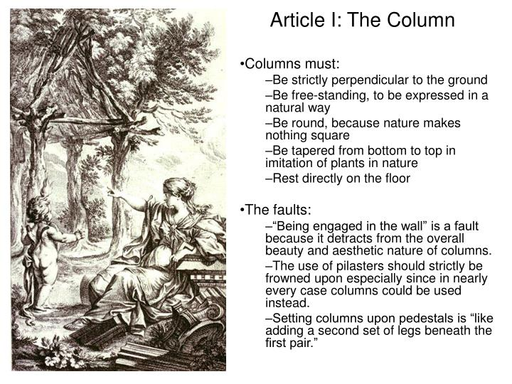 Article I: The Column