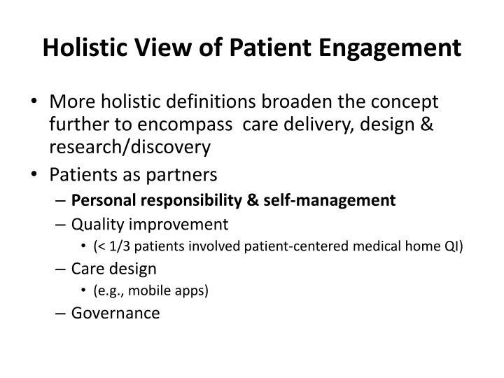 Holistic View of Patient Engagement