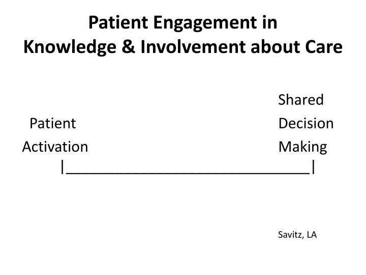 Patient Engagement in