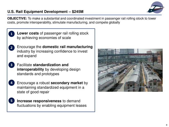 U.S. Rail Equipment Development – $245M