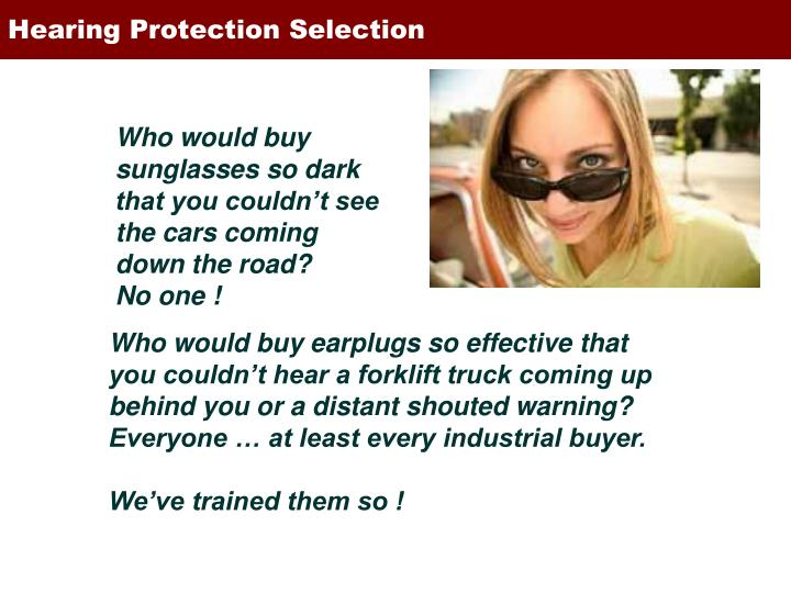 Hearing Protection Selection