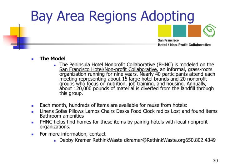 Bay Area Regions Adopting
