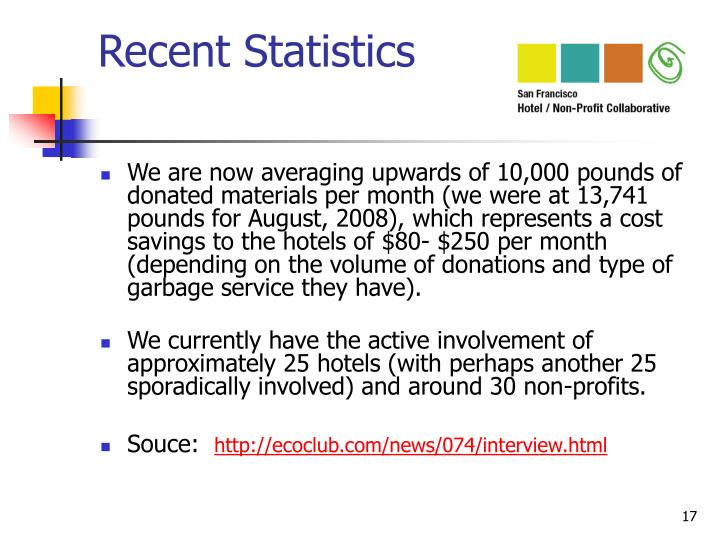 Recent Statistics