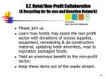 s f hotel non profit collaborative a recycling for re use and donation network