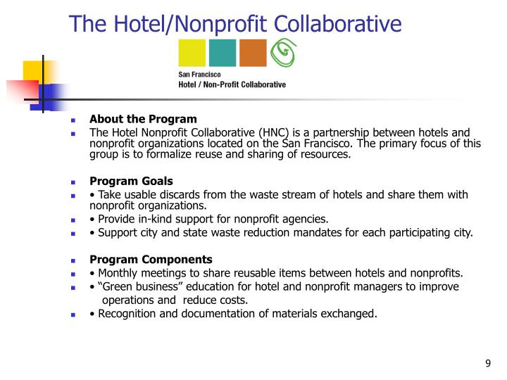 The Hotel/Nonprofit Collaborative