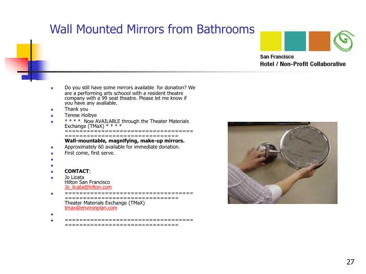 Wall Mounted Mirrors from Bathrooms