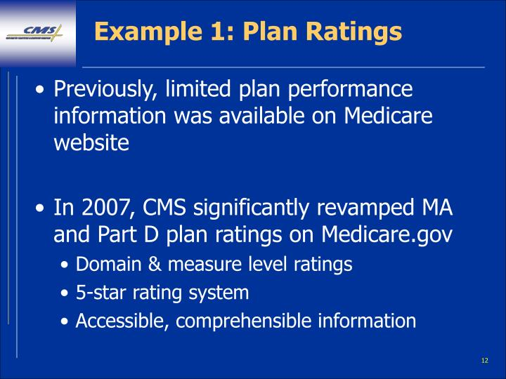 Example 1: Plan Ratings