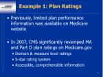 example 1 plan ratings