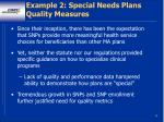 example 2 special needs plans quality measures