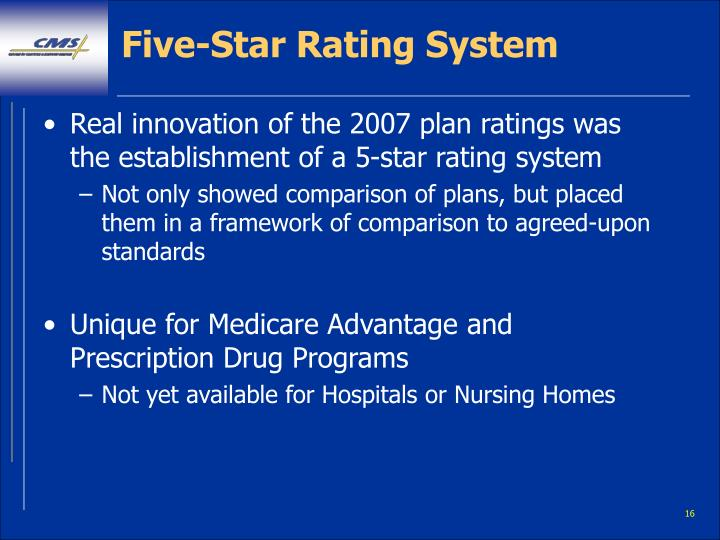 Five-Star Rating System