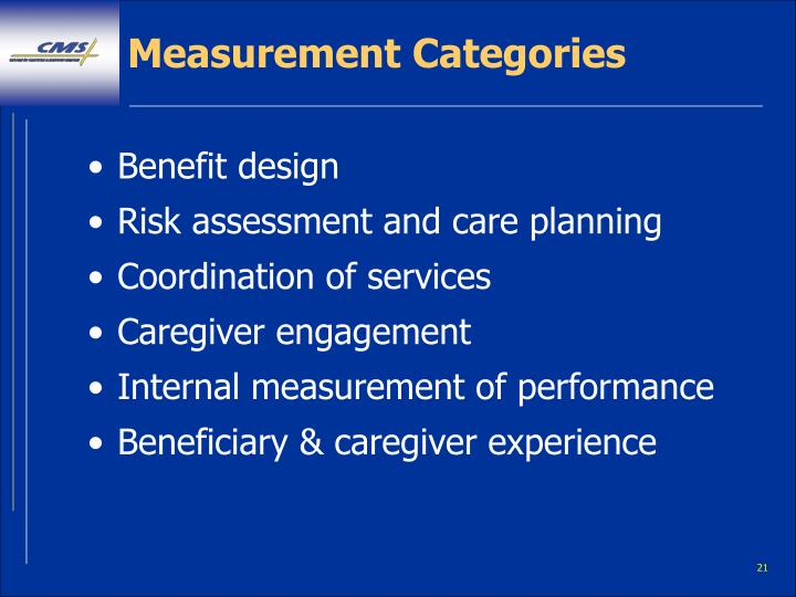 Measurement Categories