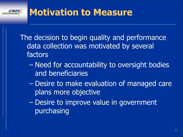 Motivation to Measure