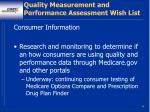 quality measurement and performance assessment wish list2