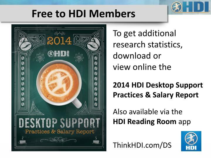Free to HDI Members