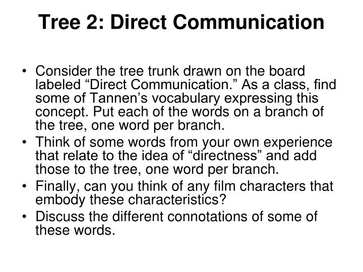 Tree 2: Direct Communication
