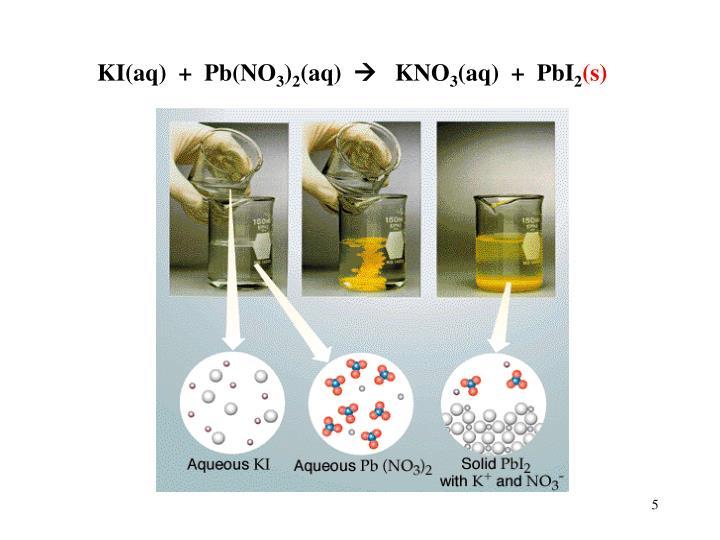 KI(aq)  +  Pb(NO