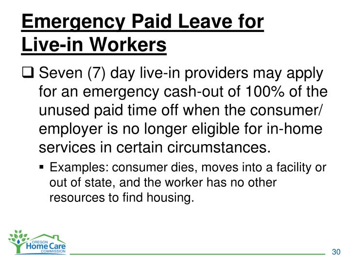 Emergency Paid Leave for
