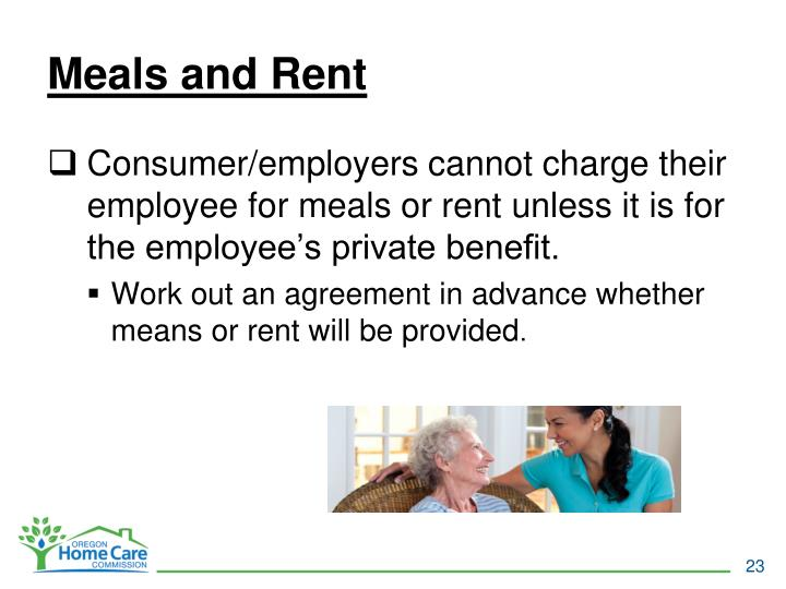 Meals and Rent