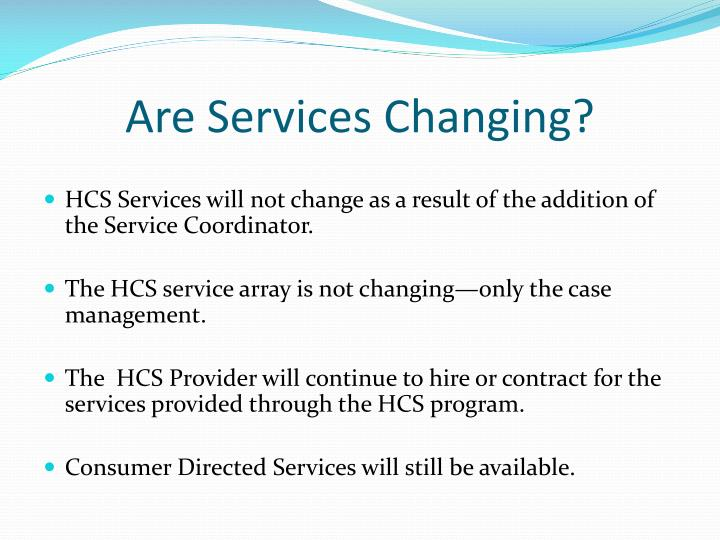Are Services Changing?