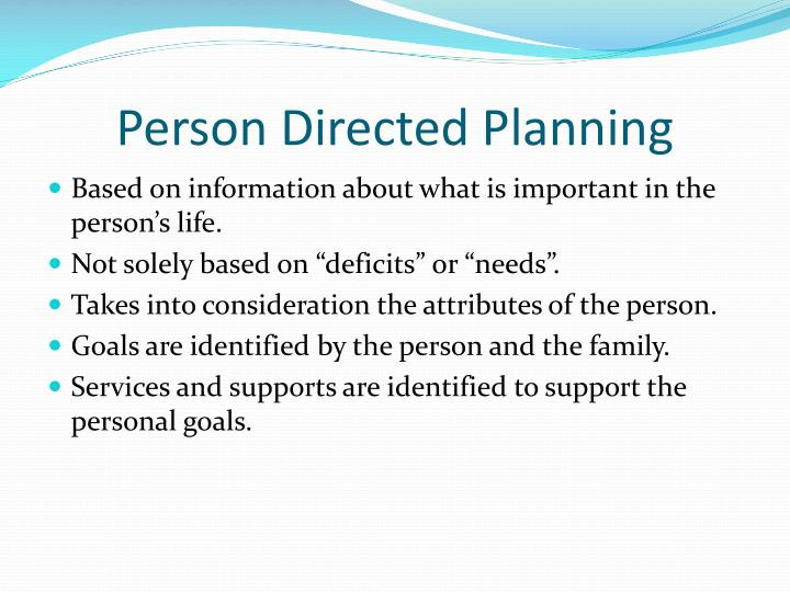 Person Directed Planning