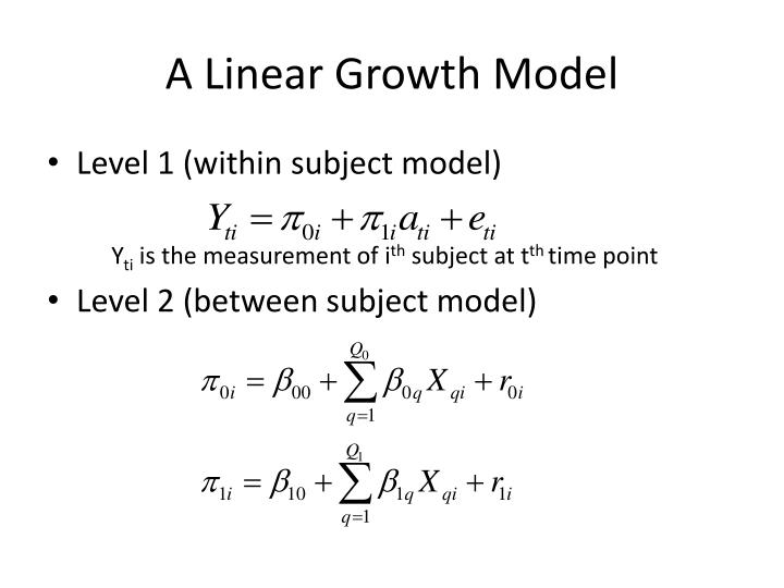 A Linear Growth Model