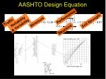 aashto design equation