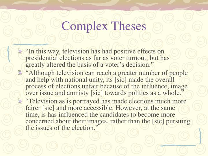 Complex Theses