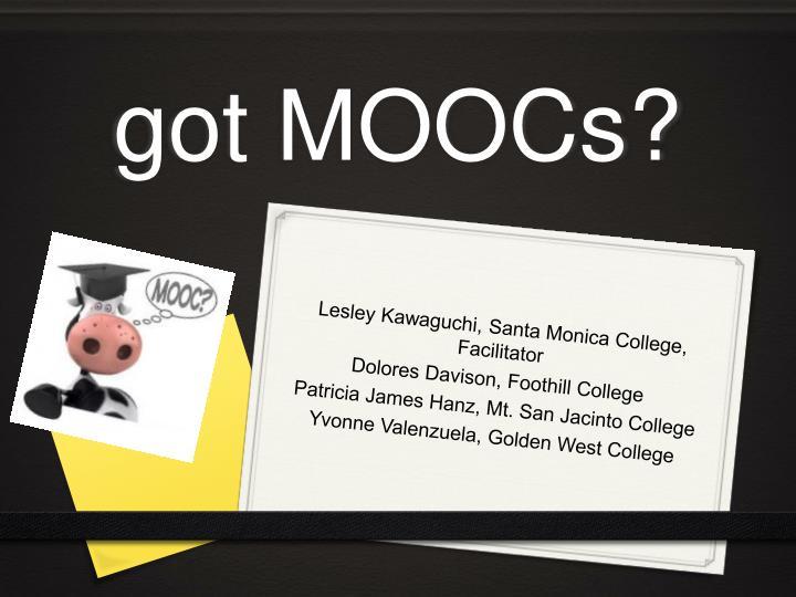 got MOOCs?